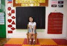 "Jaedene Alyzxandra Medina, 5, poses for a photograph inside her classroom at Child's Home Educational Center in Las Pinas, Metro Manila Philippines, November 29, 2016. REUTERS/Erik De Castro           SEARCH ""CHRISTMAS WISHES"" FOR THIS STORY. SEARCH ""WIDER IMAGE"" FOR ALL STORIES. - RTSV3B0"
