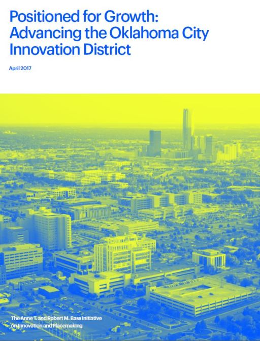 Report cover of Positioning for growth: Advancing the Oklahoma City innovation districtf