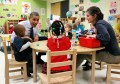 U.S. President Barack Obama meets with children in a pre-kindergarten classroom at College Heights early childhood learning center in Decatur