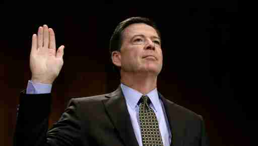 FBI Director James Comey is sworn in to testify before a Senate Judiciary Committee