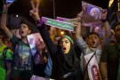 Supporters of Iran's President Hassan Rouhani take part in a campaign rally in Tehran, Iran, May 17, 2017. Picture taken May 17, 2017. TIMA via REUTERS ATTENTION EDITORS - THIS IMAGE WAS PROVIDED BY A THIRD PARTY. FOR EDITORIAL USE ONLY. - RTX36BEG