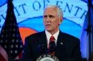 """U. S. Vice President Mike Pence addresses Chamber of Commerce """"Invest in America!"""" summit in Washington U.S., May 18, 2017. REUTERS/Mary F. Calvert - RTX36GCA"""