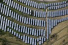 An array of solar panels are seen in Oakland, California, U.S. December 4, 2016. REUTERS/Lucy Nicholson - RTSUNG0