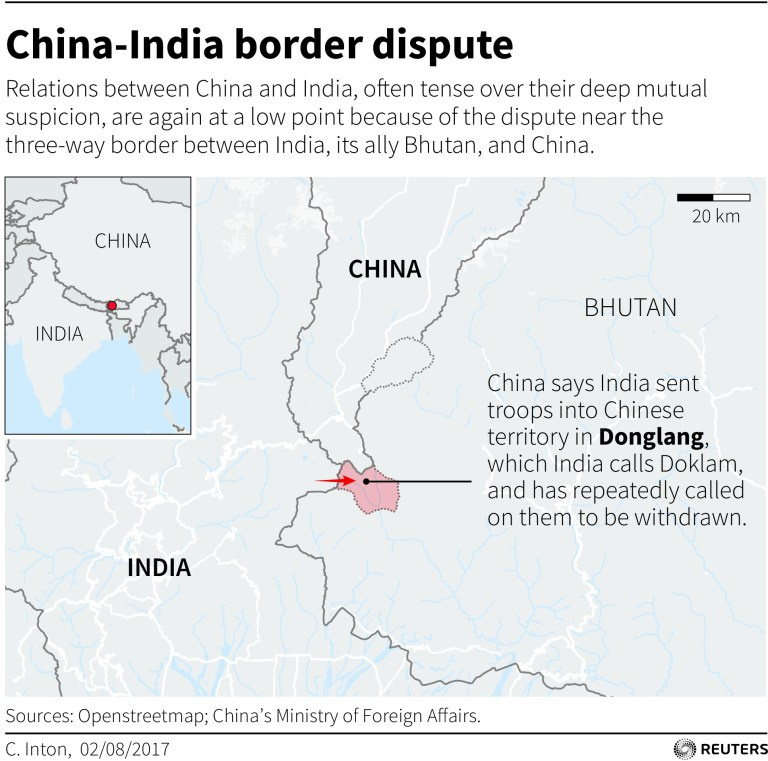 China-India border dispute map