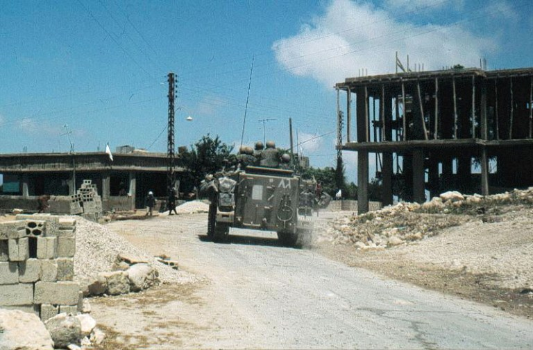 Israeli troops in south Lebanon (1982).