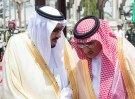 DATE IMPORTED:April 30, 2017Saudi Arabia's King Salman bin Abdulaziz Al Saud (L) speaks with Crown Prince Mohammed Bin Nayef during a reception ceremony in Jeddah, Saudi Arabia April 30, 2017. Bandar Algaloud/Courtesy of Saudi Royal Court/Handout via REUTERS ATTENTION EDITORS - THIS PICTURE WAS PROVIDED BY A THIRD PARTY. FOR EDITORIAL USE ONLY.