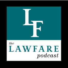 Logo for Lawfare podcast