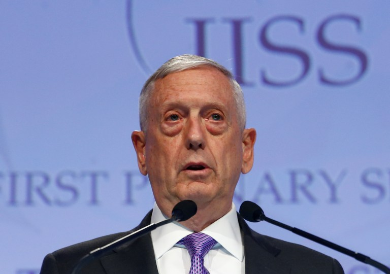 U.S. Secretary of Defense Mattis delivers remarks at 2017 Shangri-La Dialogue