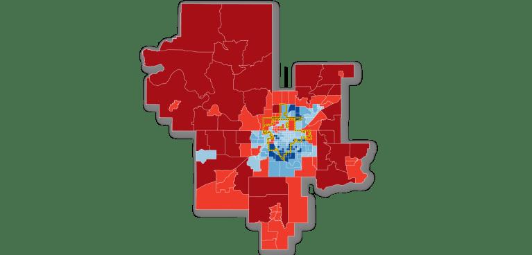 Map: broadband subscription in Tulsa