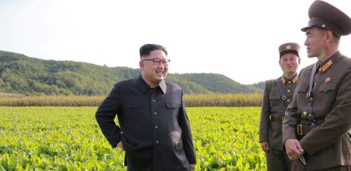 North Korean leader Kim Jong Un visits a Farm No. 1116 of KPA Unit 810 in this September 29, 2017 photo released by North Korea's Korean Central News Agency (KCNA) in Pyongyang. KCNA/via REUTERS ATTENTION EDITORS - THIS IMAGE WAS PROVIDED BY A THIRD PARTY. REUTERS IS UNABLE TO INDEPENDENTLY VERIFY THIS IMAGE. NO THIRD PARTY SALES. SOUTH KOREA OUT.