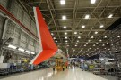 A wing for a Boeing 737 is pictured in the wing system installation area at their factory in Renton, Washington, U.S., February 13, 2017. Picture taken February 13, 2017. REUTERS/Jason Redmond - RC19CAF2BEC0