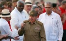 Cuba's President Raul Castro gestures as he arrives for the ceremony marking the 64th anniversary of the July 26, 1953 rebel assault which former Cuban leader Fidel Castro led on the Moncada army barracks, Pinar del Rio, Cuba, July 26, 2017. REUTERS/Alejandro Ernesto/Pool - RC1B0DB5D0D0