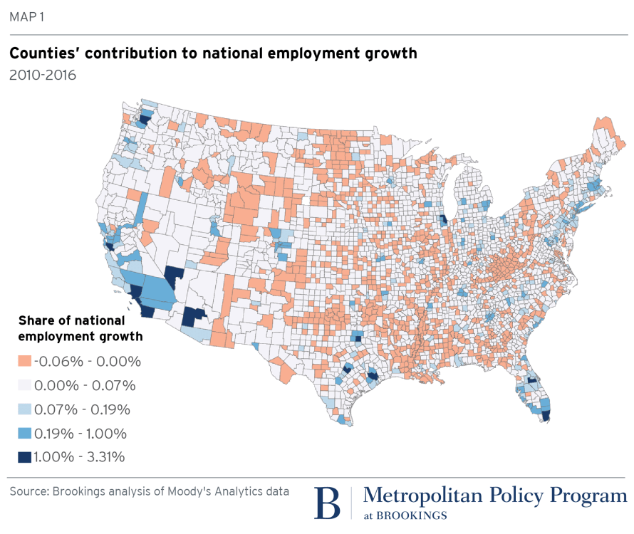 Geographic gaps are widening while U.S. economic growth increases