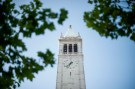 Sather Tower rises above the University of California at Berkeley campus in Berkeley, California May 12, 2014.    REUTERS/Noah Berger  (UNITED STATES - Tags: EDUCATION) - GF2EA5D0QZ701