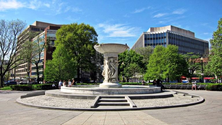 Fountain in Dupont Circle, Washington, D.C.