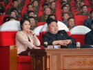 North Korean leader Kim Jong Un and his wife Ri Sol Ju watch a performance by the Moranbong Band at the April 25 House of Culture in this undated photo released by North Korea's Korean Central News Agency (KCNA) in Pyongyang on March 24, 2014. REUTERS/KCNA (NORTH KOREA - Tags: POLITICS TPX IMAGES OF THE DAY)   ATTENTION EDITORS - THIS PICTURE WAS PROVIDED BY A THIRD PARTY. REUTERS IS UNABLE TO INDEPENDENTLY VERIFY THE AUTHENTICITY, CONTENT, LOCATION OR DATE OF THIS IMAGE. FOR EDITORIAL USE ONLY. NOT FOR SALE FOR MARKETING OR ADVERTISING CAMPAIGNS. THIS PICTURE IS DISTRIBUTED EXACTLY AS RECEIVED BY REUTERS, AS A SERVICE TO CLIENTS. NO THIRD PARTY SALES. NOT FOR USE BY REUTERS THIRD PARTY DISTRIBUTORS. SOUTH KOREA OUT. NO COMMERCIAL OR EDITORIAL SALES IN SOUTH KOREA - GM1EA3O0LS301