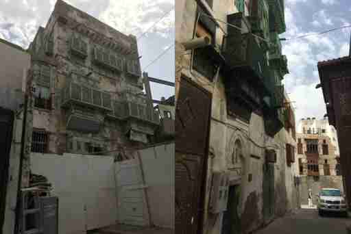 Old Jeddah – much of it dilapidated. The buildings mostly date from the early 20th century, though the city is much, much older.