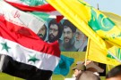 A poster of (R-L) Iran's supreme leader Ayatollah Ali Khamenei, Hezbollah Secretary-General Sayyed Hassan Nasrallah, former Hezbollah Secretary-General Sayyed Abbas al-Musawi and Lebanese resistance leader and cleric Sheikh Ragheb Harb, is seen in between Iranian, Syrian, Lebanese and Hezbollah flags during Resistance and Liberation Day celebrations in Bint Jbeil May 25, 2014. The event commemorates the 14th anniversary of Israel's withdrawal from southern Lebanon. REUTERS/Ali Hashisho A poster of (R-L) Iran's supreme leader Ayatollah Ali Khamenei, Hezbollah Secretary-General Sayyed Hassan Nasrallah, former Hezbollah Secretary-General Sayyed Abbas al-Musawi and Lebanese resistance leader and cleric Sheikh Ragheb Harb, is seen in between Iranian, Syrian, Lebanese and Hezbollah flags during Resistance and Liberation Day celebrations in Bint Jbeil May 25, 2014. The event commemorates the 14th anniversary of Israel's withdrawal from southern Lebanon. REUTERS/Ali Hashisho