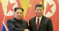 North Korean leader Kim Jong Un shakes hands with Chinese President Xi Jinping as he paid an unofficial visit to Beijing, China, in this undated photo released by North Korea's Korean Central News Agency (KCNA) in Pyongyang March 28, 2018. KCNA/via Reuters ATTENTION EDITORS - THIS IMAGE WAS PROVIDED BY A THIRD PARTY. REUTERS IS UNABLE TO INDEPENDENTLY VERIFY THIS IMAGE. NO THIRD PARTY SALES. NOT FOR USE BY REUTERS THIRD PARTY DISTRIBUTORS. SOUTH KOREA OUT. NO COMMERCIAL OR EDITORIAL SALES IN SOUTH KOREA. - RC1D5C17BC70