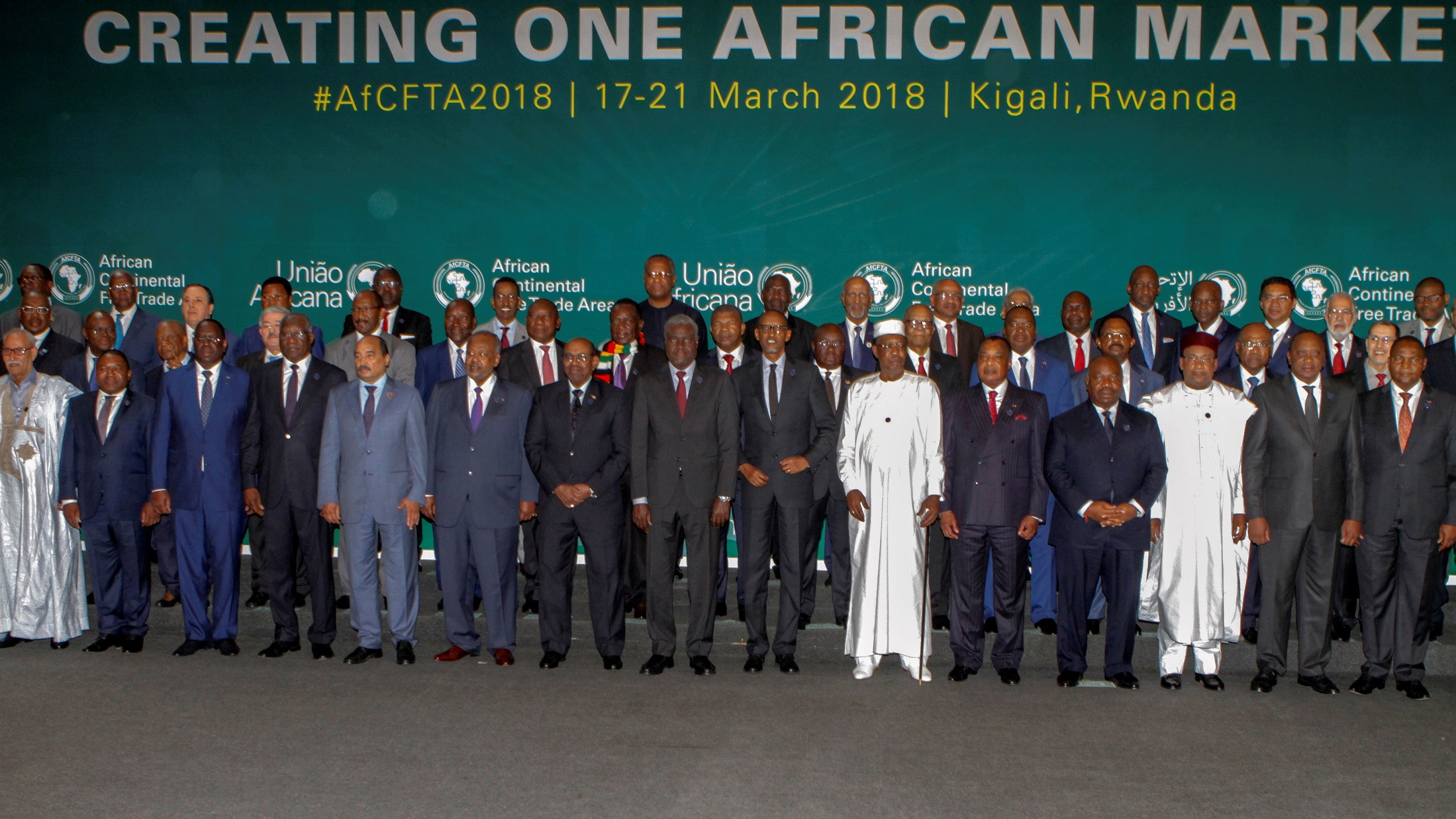 Photo: African leaders at Continental Free Trade Agreement signing