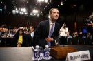 Facebook CEO Mark Zuckerberg arrives to testify before a Senate Judiciary and Commerce Committees joint hearing