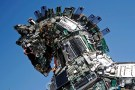 "A close-up of the head of a ""Cyber Horse"", made from thousands of infected computer and cell phone bits, is seen on display at the entrance to the annual Cyberweek conference at Tel Aviv University, Israel June 20, 2016. REUTERS/Amir Cohen     TPX IMAGES OF THE DAY      - D1AETKZFLPAB"
