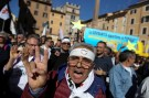5-Star Movement activists shout slogans during a protest against the new electoral law in downtown Rome, Italy, October 25, 2017. REUTERS/Tony Gentile - RC11FBAE3820