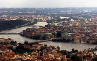 A general view of the Vltava river in Prague.