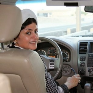 Hatoon al-Fassi behind the wheel.