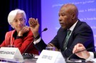 South African Reserve Bank Governor Lesetja Kganyago speaks at IMFC joint press conference with International Monetary Fund (IMF) Managing Director Christine Lagarde during the IMF/World Bank spring meeting in Washington, U.S., April 21, 2018. REUTERS/Yuri Gripas - RC1983EAB0E0