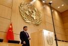Chinese President Xi Jinping delivers a speech during a high-level event in the Assembly Hall at the United Nations European headquarters in Geneva, Switzerland, January 18, 2017. REUTERS/Denis Balibouse - LR1ED1I1CPTBS