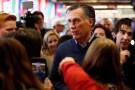 Former U.S. presidential candidate Mitt Romney, who announced he would run for a U.S. Senate seat in Utah,meets with students at Utah Valley University in Orem, Utah, U.S. February 16, 2018. REUTERS/Jim Urquhart - RC16FF5DD500