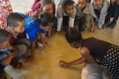 Kids sitting on the floor