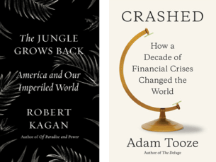 "Combined image of the covers of ""The Jungle Grows Back"" and ""Crashed"""