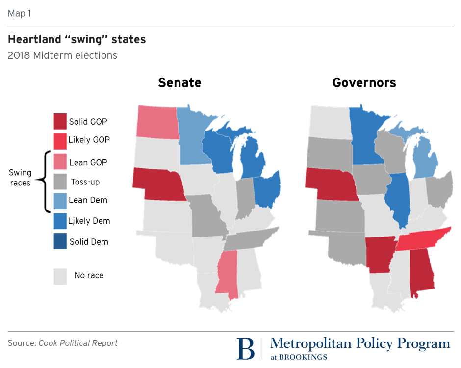 Heartland swing states, 2018 midterm elections