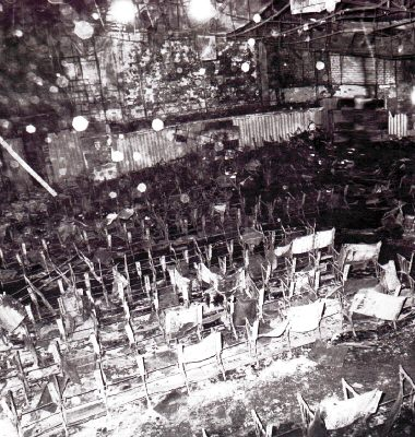 Inside the Cinema Rex theater in Abadan after the fire. / Wikimedia Commons