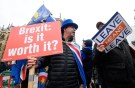 Pro and anti-Brexit protesters argue opposite the Houses of Parliament in London, Britain, December 10, 2018. REUTERS/Toby Melville - RC168C6328B0