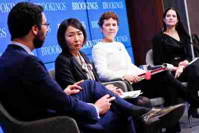 Panelists Joshua Geltzer, Mayuko Hori, Audrey Kurth Cronin, and Samm Sacks