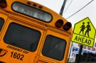 A school bus sits parked along a street in the Queens borough of New York January 16, 2013. For the first time in 34 years, New York City bus drivers went on strike, stranding up to 152,000 students in the nation's largest public school system on sleet-soaked Wednesday morning.   REUTERS/Shannon Stapleton (UNITED STATES - Tags: EDUCATION CIVIL UNREST BUSINESS EMPLOYMENT) - GM1E91H00RI01
