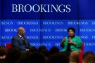 Jelani Cobb and Stacey Abrams, Brookings, February 15, 2019 (Sharon Farmer)