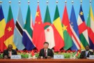 Chinese President Xi Jinping speaks next to South African President Cyril Ramaphosa during the 2018 Beijing Summit Of The Forum On China-Africa Cooperation - Round Table Conference at at the Great Hall of the People in Beijing on September 4, 2018 in Beijing, China. Lintao Zhang/Pool via REUTERS *** Local Caption *** Xi Jinping;Cyril Ramaphosa - RC1A54A93A00