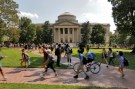 Students walk past Wilson Library on the campus of the University of North Carolina at Chapel Hill, North Carolina, U.S., September 20, 2018. Picture taken on September 20, 2018.   REUTERS/Jonathan Drake - RC131D7A3900