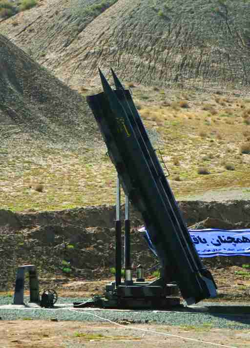 EDITORS' NOTE: Reuters and other foreign media are subject to Iranian restrictions on their ability to film or take pictures in Tehran.An Iranian Zelzal missile is ready for launch during a test at an unknown location in central Iran September 27, 2009. Iran test-fired short-range missiles on Sunday to show it was prepared to head off any military threat, four days before the Islamic Republic is due to hold rare talks with world powers worried about its nuclear ambitions. REUTERS/Fars News/Ali Shayegan (IRAN MILITARY POLITICS) QUALITY FROM SOURCE - GM1E59R1K5U01