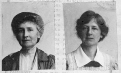 Passport photos of Grace and Isabel, ca. 1915