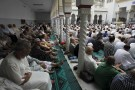 Worshippers attend morning prayers of Eid al-Fitr holiday, marking the end of the holy month of Ramadan, at al Biar mosque in Algiers, Algeria, July 17, 2015.REUTERS/Ramzi Boudina - GF10000161786