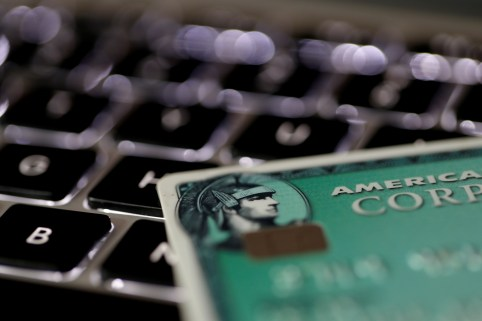 An American Express credit card is seen on a computer keyboard in this picture illustration taken September 6, 2017. REUTERS/Philippe Wojazer/Illustration - RC12125F0520