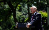U.S. President Donald Trump speaks about his administration's proposals to change U.S. immigration policy in the Rose Garden of the White House in Washington, U.S., May 16, 2019. REUTERS/Carlos Barria - RC1D00D6D980