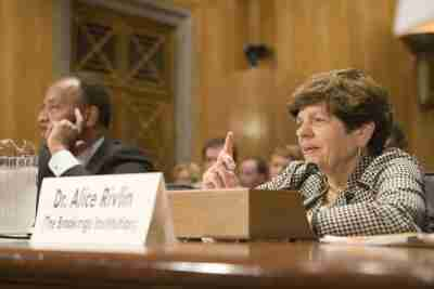 Alice Rivlin testifying