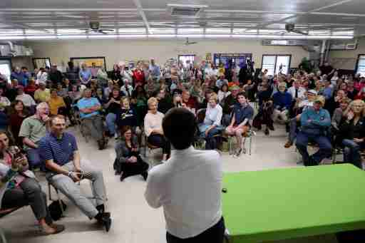 2020 Democratic presidential candidate Pete Buttigieg speaks during a town hall meeting in Fort Dodge, Iowa, U.S., April 16, 2019.  REUTERS/Elijah Nouvelage - RC17753C0590