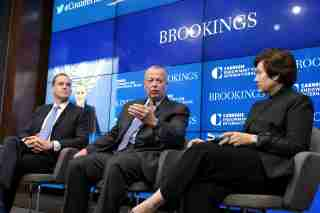 Panelists at event on fifth anniversary of Global Coalition to Defeat ISIS (photo by Chris Williams)